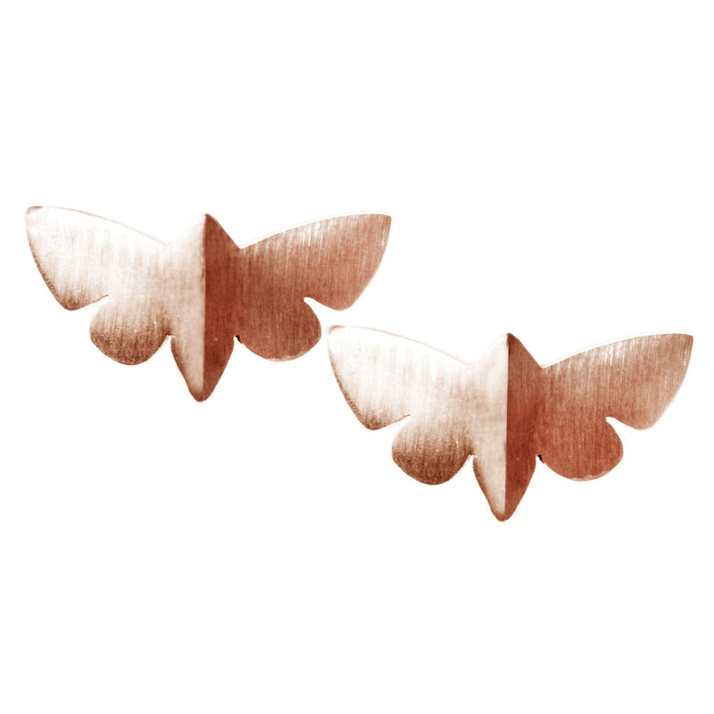 Rose Butterfly Earrings