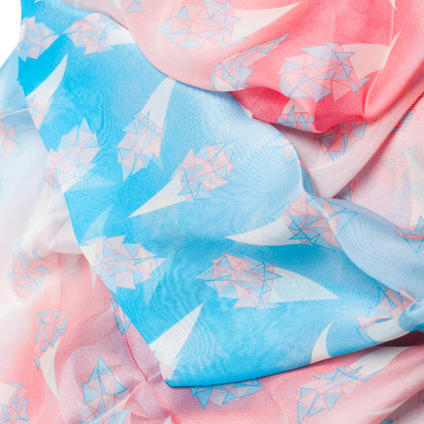 "Silk Chiffon Scarf 65*180 ""Ice Creams"""