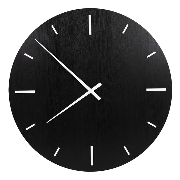 "Wall Clock ""TAIM"" Black Oak"