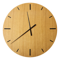 "Wall Clock ""TAIM"" Oak"