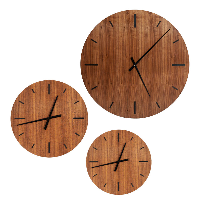 "Wall Clock ""TAIM"" Walnut"