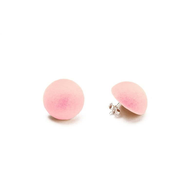 "Plüsch Ball Earrings ""Bubble Gum"" S"