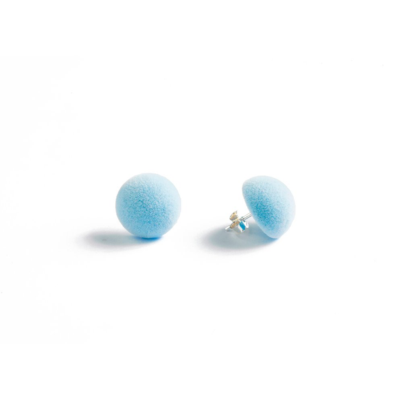 "Plüsch Ball Earrings ""Baby Blue"" XS"