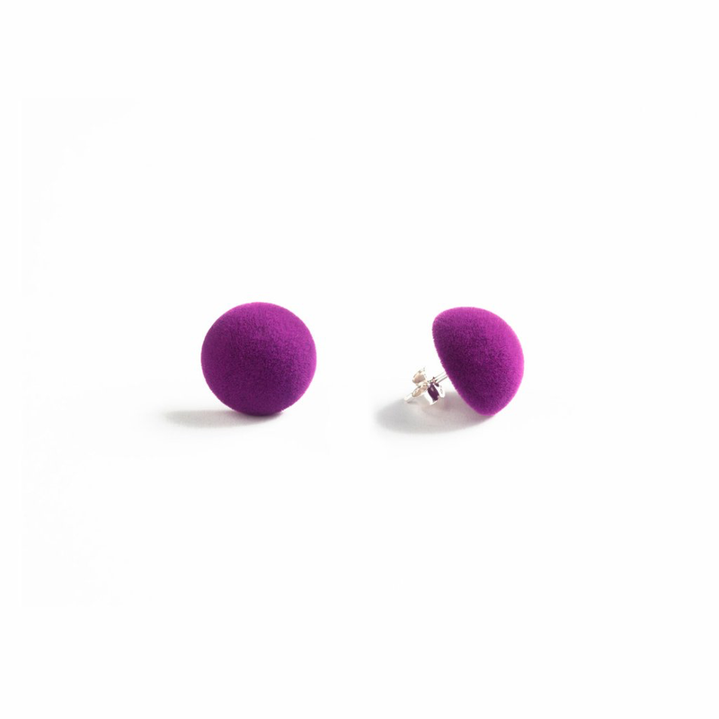 "Plüsch Ball Earrings ""Orchid"" XS"