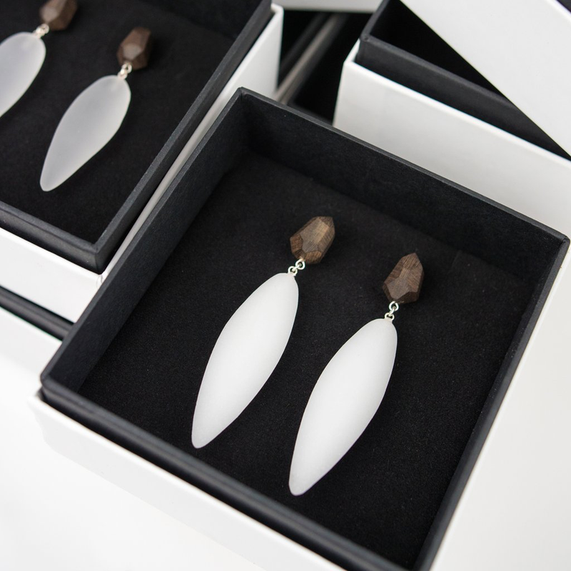"Nymphe Earrings ""White"""