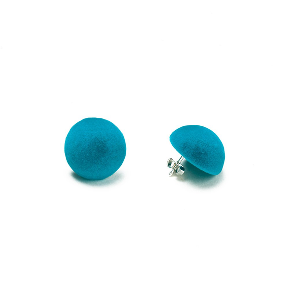 "Plüsch Ball Earrings ""Turquoise"" S"
