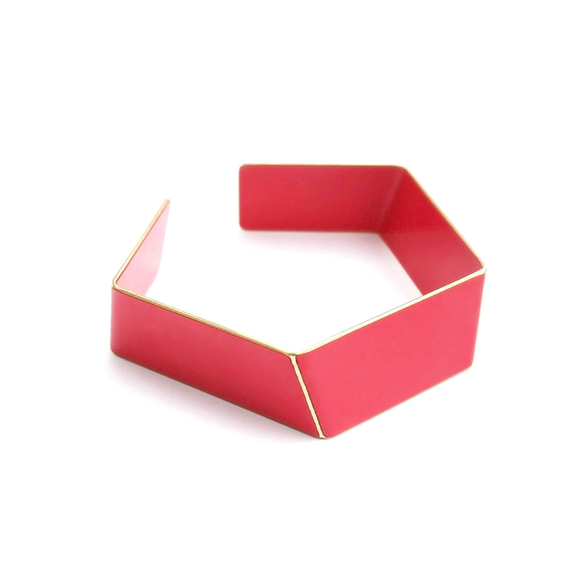 "Folded Bracelet ""Strawberry Red"""