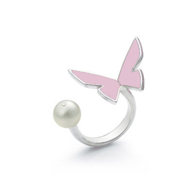 "Les Papillons Pink Ring ""Pearl"""