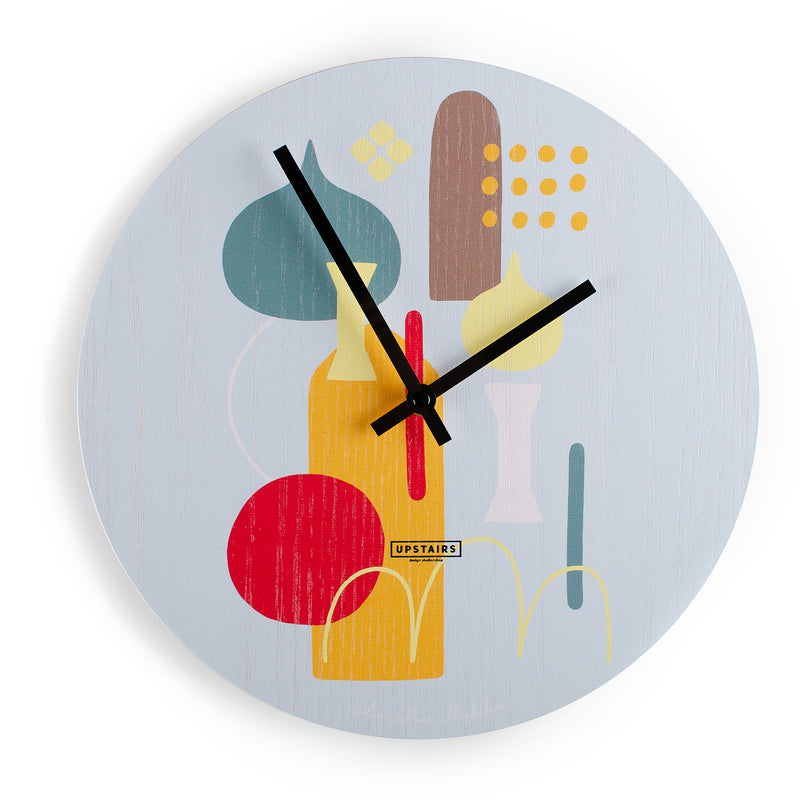 "Wall Clock ""Oaky Abstract"""