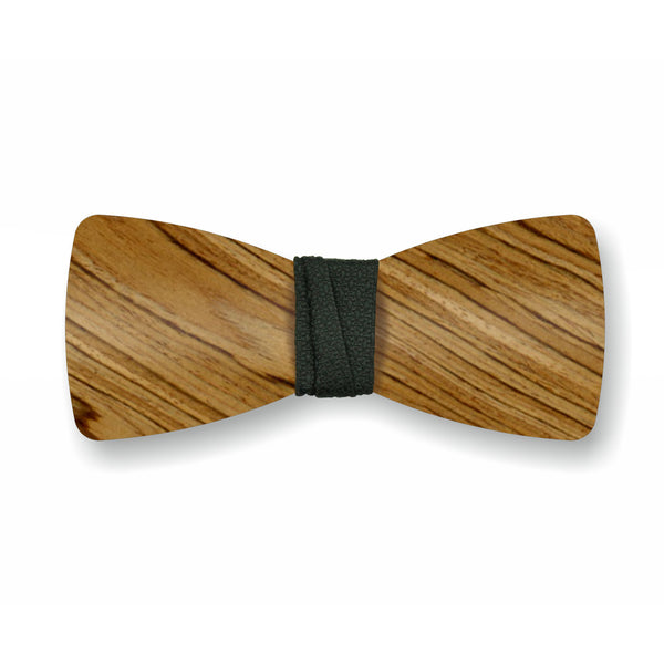 "Wooden Bow Tie ""Smoked+Black"""