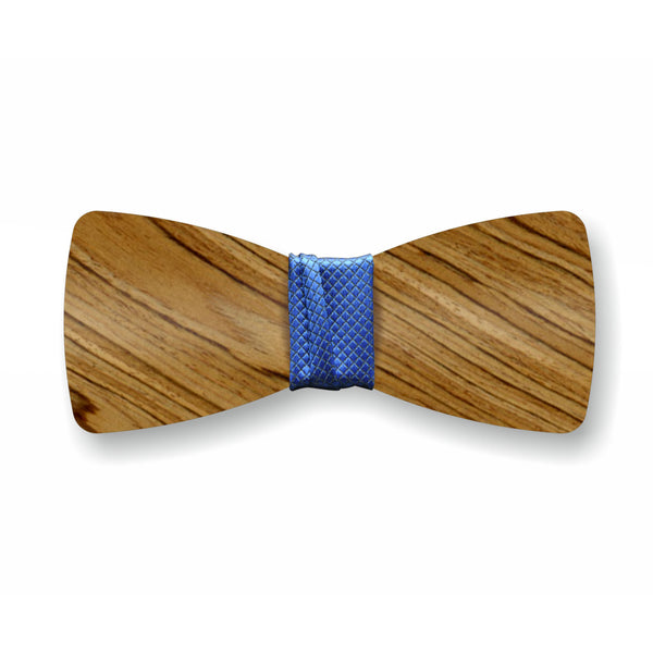 "Wooden Bow Tie ""Smoked+Blue"""