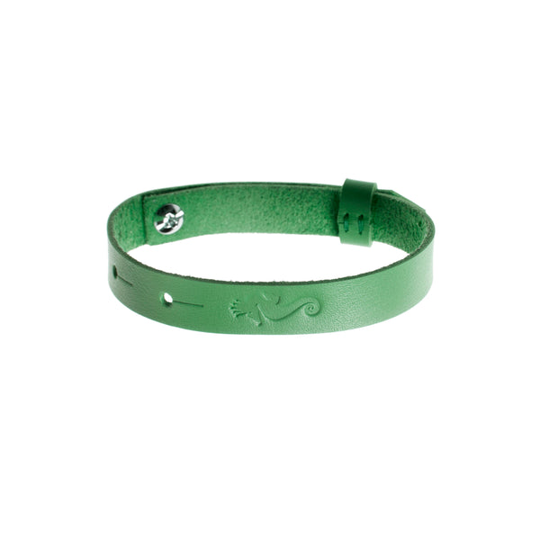 "Get Lucky Leather Bracelet ""Green"""