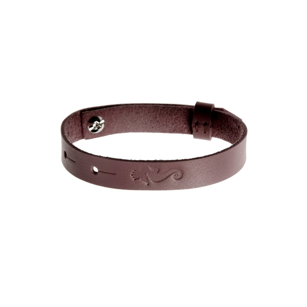 "Get Lucky Leather Bracelet ""Brown"""