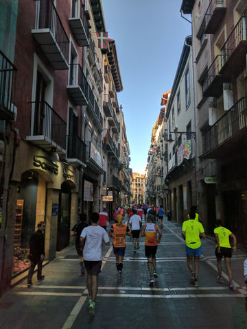 running through Pamplona