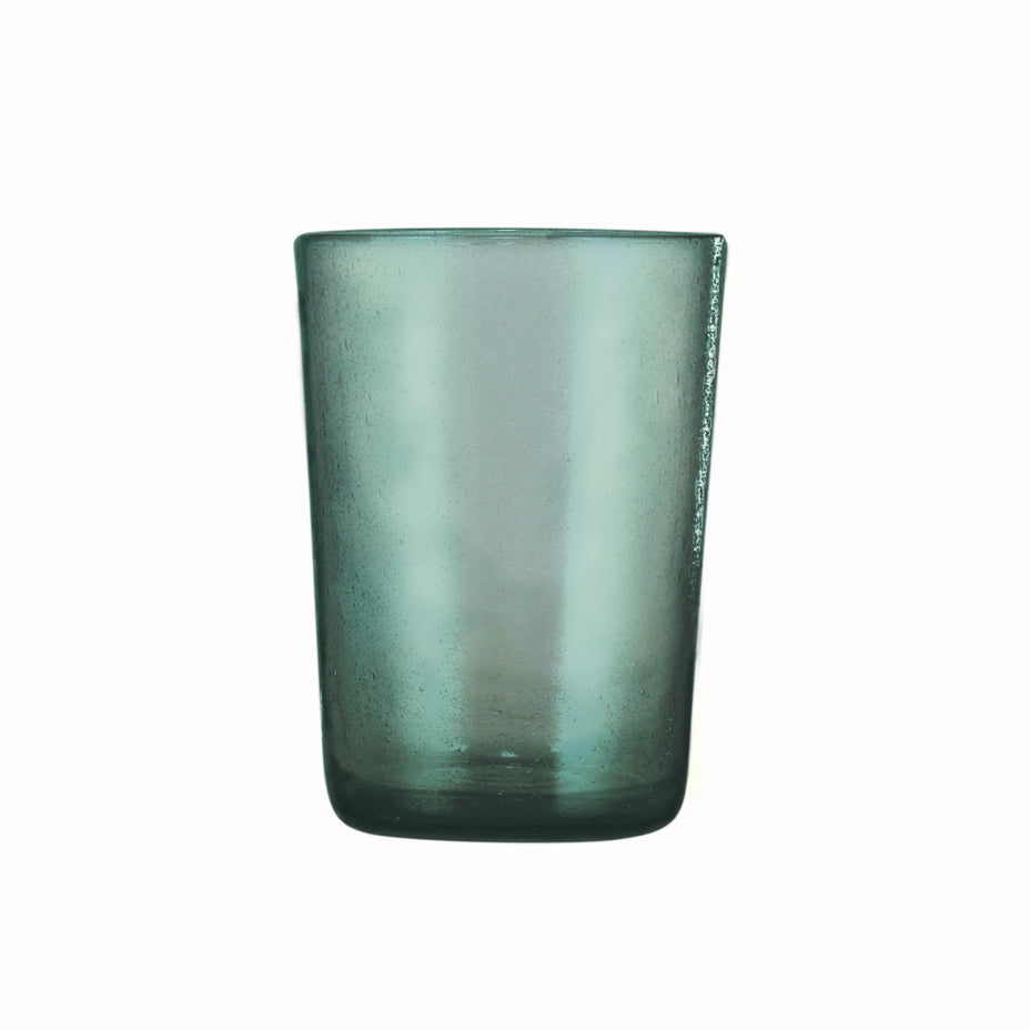 GLASS TUMBLER - TURQUOISE BLUE