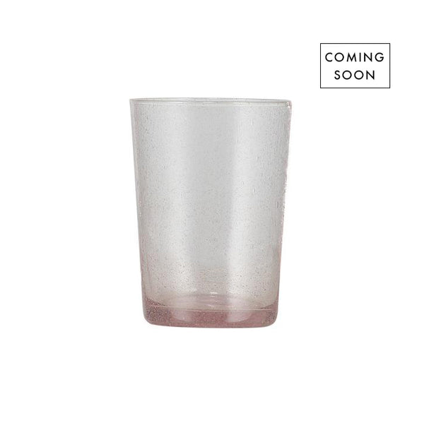GLASS TUMBLER - OLD ROSE