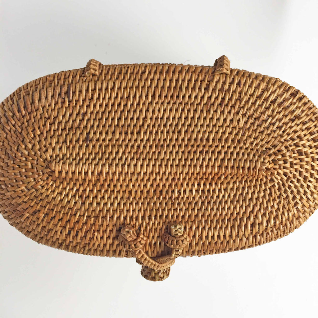 DEEP BUCKET WOVEN BAG LID