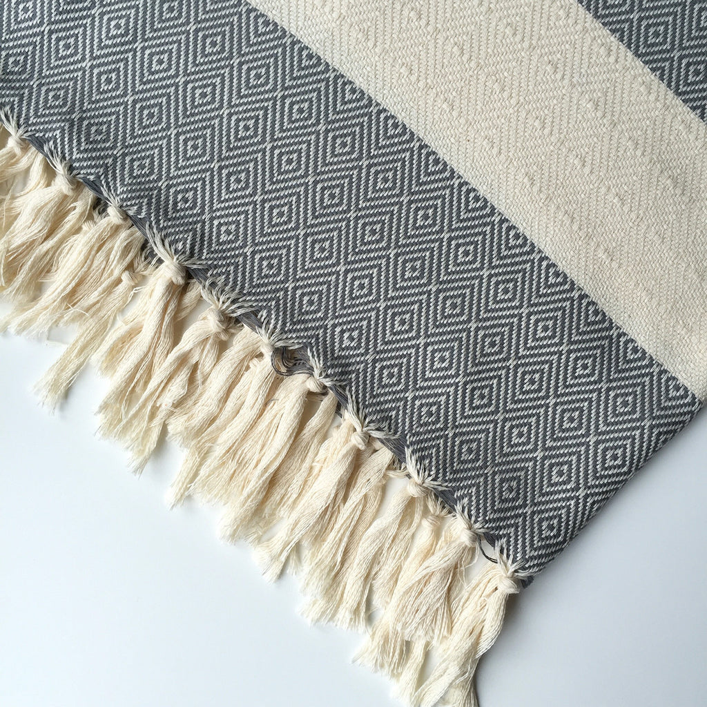 DIAMOND HAMMAM TOWEL - DARK GREY