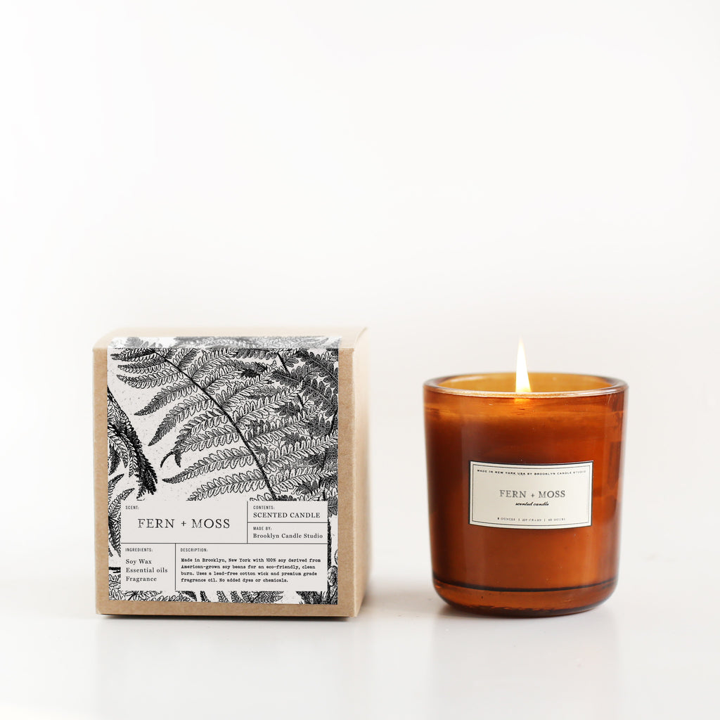 FERN + MOSS AMBER CANDLE | Luxury Soy Candle | Brooklyn Candle Studio