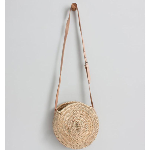 ROUND STRAW CROSS BODY BAG