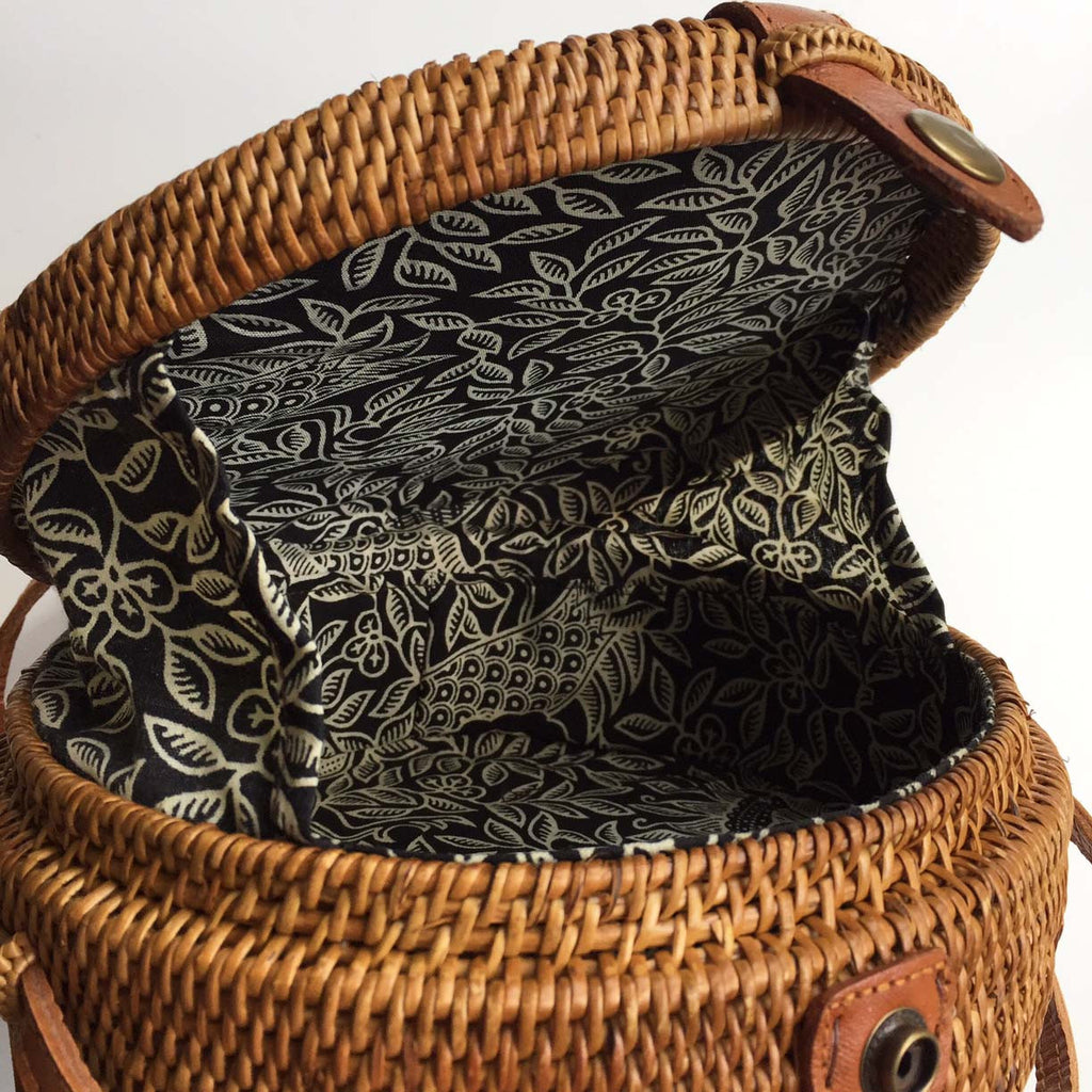ROUND WOVEN BAG - LINING