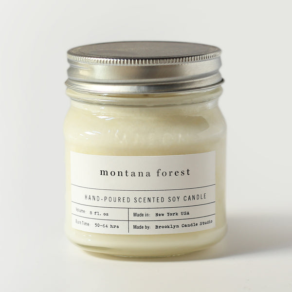 MONTANA FOREST MASON JAR CANDLE | Luxury Soy Candle | Brooklyn Candle Studio