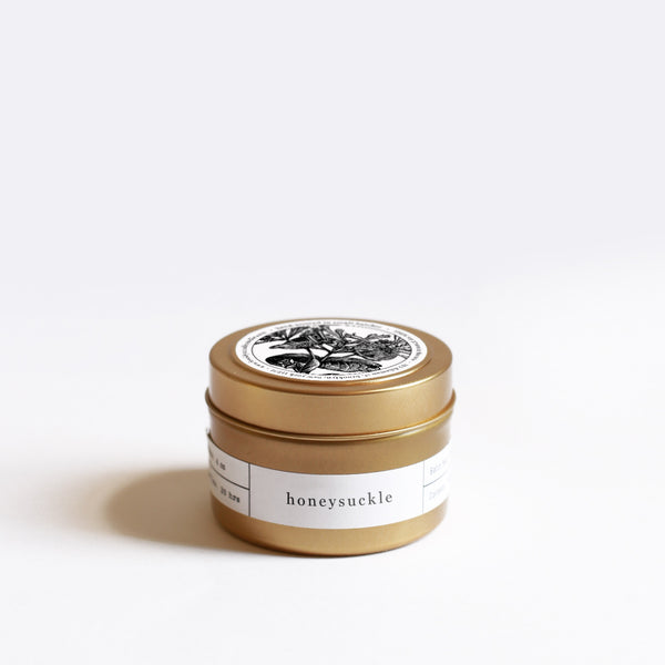 Scented Travel Candle Honeysuckle | Luxury Soy Candle | Brooklyn Candle Studio