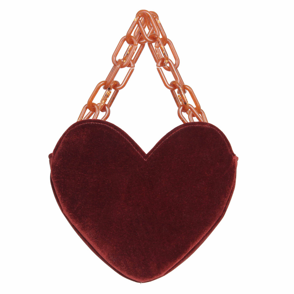 VELVET CRUSH BAG - BRICK - DONNI