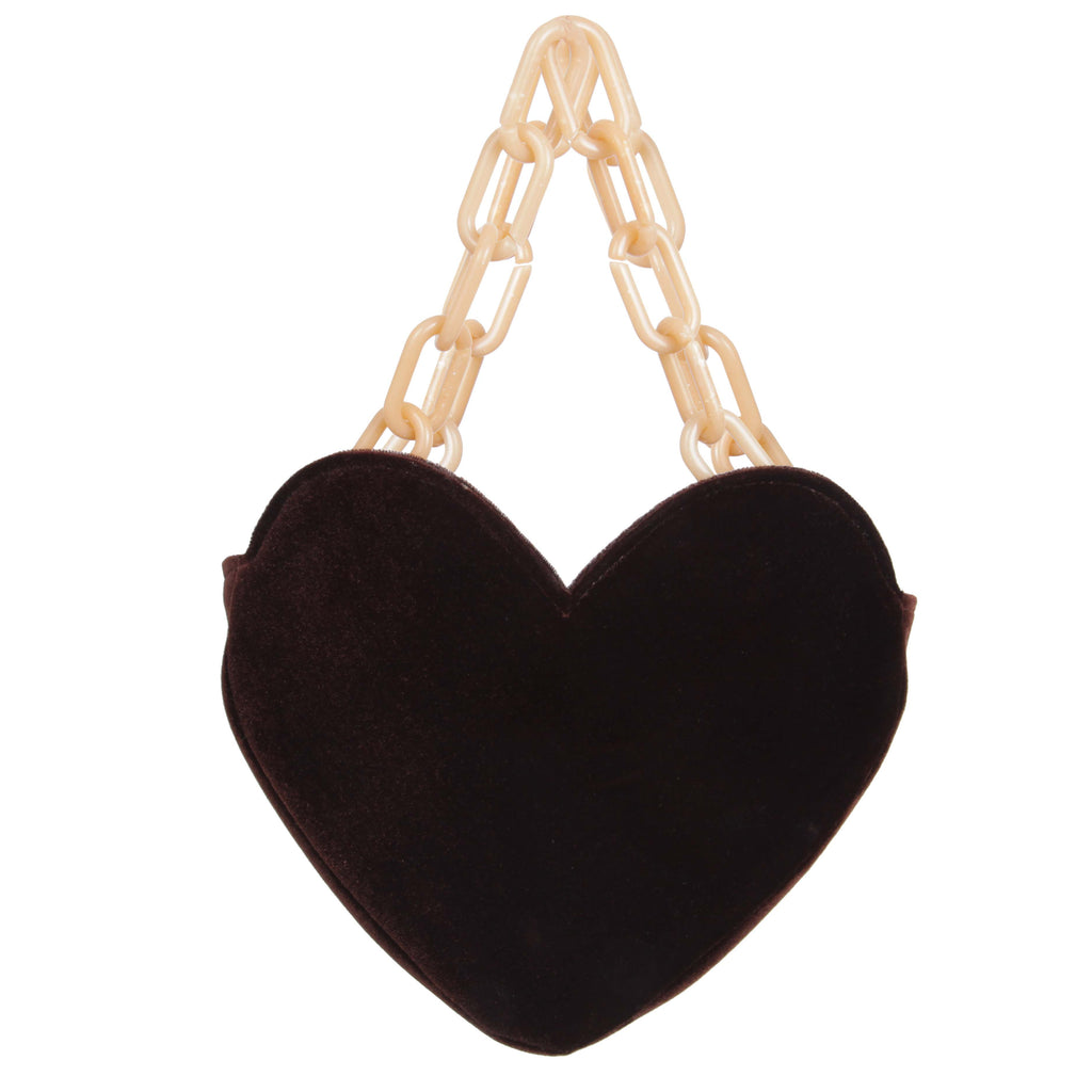 VELVET CRUSH BAG - CHOCOLATE