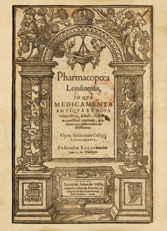 The Pharmacopoea Londinensis of May 1618, in facsimile