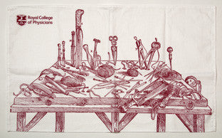 'Curious anatomys' tea towel