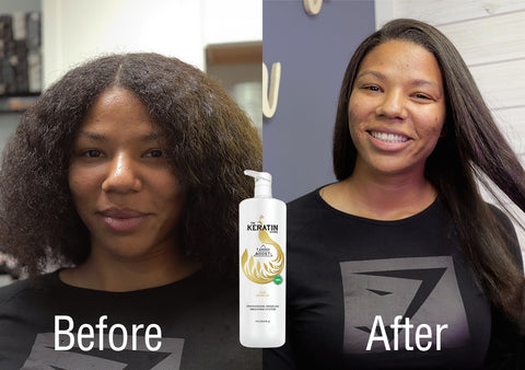 Tanino Boost Brazilian Keratin Treatment Before and After picture