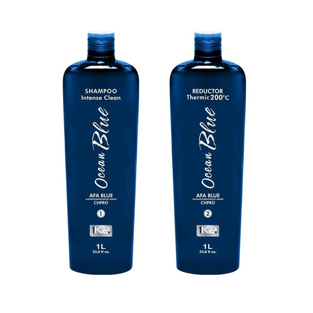 1Ka Brazilian Keratin Treatment Ocean Blue Shampoo and Reductor - 1Ka