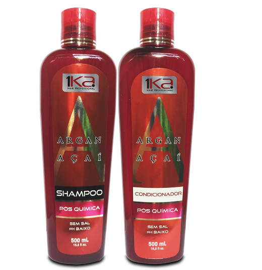 1Ka Home Care Argan and Açai Pos Progress Shampoo and Conditioner Maintenance Kit 2x500ml - 1Ka