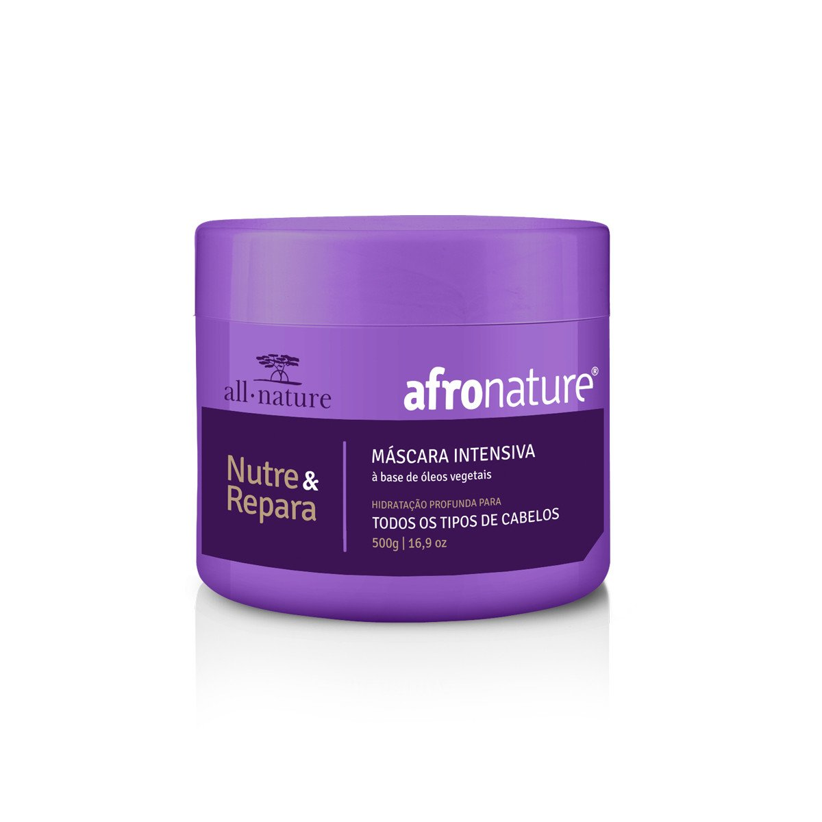 All Nature Hair Mask Hydration Moisturizing Nourishing Repair Afro Intensive Mask 500g - All Nature