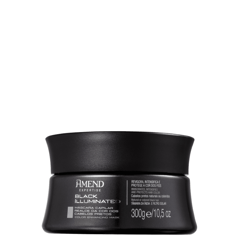 Black Illuminated - Highlight for Black Hair Color - Mask 300g - Amend