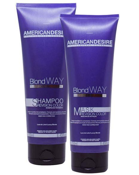 American Desire Home Care Brazilian Treatment Blond Way Revision Color Supreme 2x250ml - American Desire