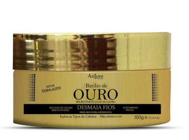Anjore Hair Mask Faints Wires Web Effect Volume Reducing Gold Moisturizing Mask 300g - Anjore