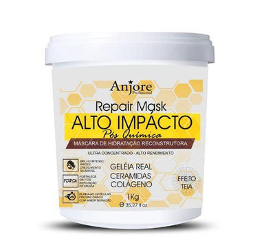 Anjore Hair Mask Moisturizing Mask High Impact Web Effect Royal Jelly Treatment 1Kg - Anjore