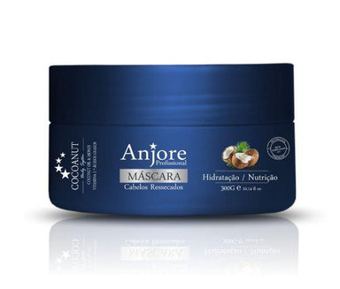Anjore Hair Mask Treatment System Moisturizing Mask Cocoanut Coconut Monoi Oil 300g - Anjore