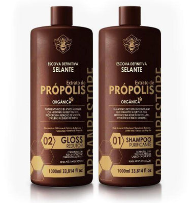 Argan Restore Brazilian Keratin Treatment Organic Definitive Progressive Propolis Extract Coconut Oil 2x1L - Argan Restore