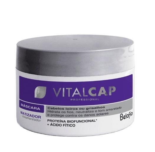 Professional Vitalcap Grey Blond Hair Anti Yellow Tinting Mask 250g - BeloFio