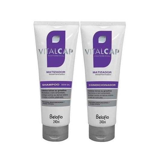 BeloFio Home Care Professional Vitalcap Blond and Grey Hair Tinting Anti Yellow 2x240ml - BeloFio