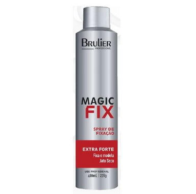 Brulier Brazilian Keratin Treatment Magic Fix Fixative Modeling Styling Dry Jet Extra Strong Spray 400ml - Brulier