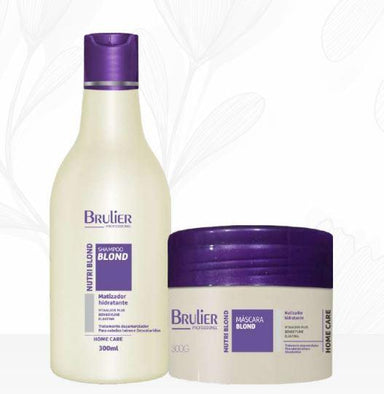 Brulier Home Care Nutri Blond Maintenance Home Care Moisturizing Tinting Hair Kit 2x300 - Brulier