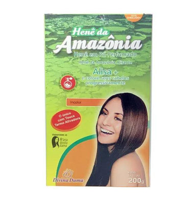 Divina Dama Brazilian Keratin Treatment Amazon Henê Powder Colorless Perfumed Henna Straightening 200g - Divina Dama