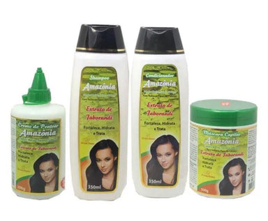 Divina Dama Brazilian Keratin Treatment Amazon Jaborandi Strengthens Moisturizes Treatment Kit 4 Prod. - Divina Dama