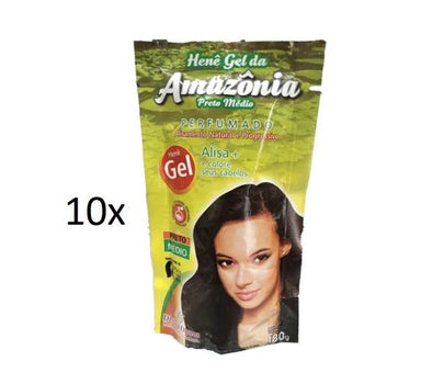 Divina Dama Brazilian Keratin Treatment Amazonia Henê Gel Medium Black Straightening Henna Keratin 180g - Divina Dama