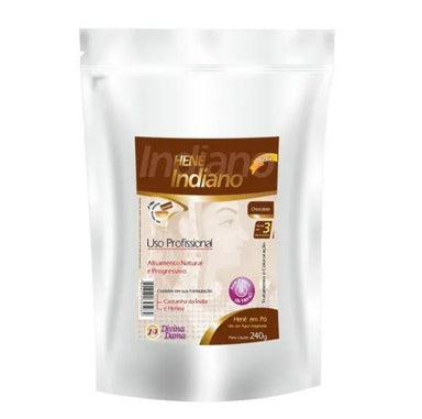 Divina Dama Brazilian Keratin Treatment Henê Powder Chocolate Straightening Smoothing Dyeing Henna 240g - Divina Dama