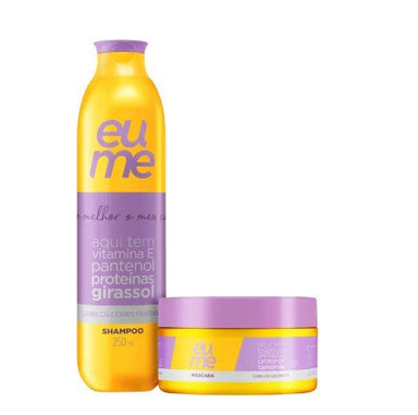 Eume Brazilian Keratin Treatment Colored Hair Sunflower Oil Panthenol Chamomile Proteins Kit 2 Prod. - Eume